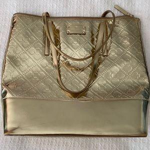 Kate Spade Gold Tote Bag